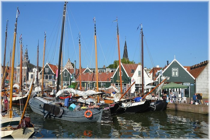 The adorable fishing village Volendam in the Netherlands