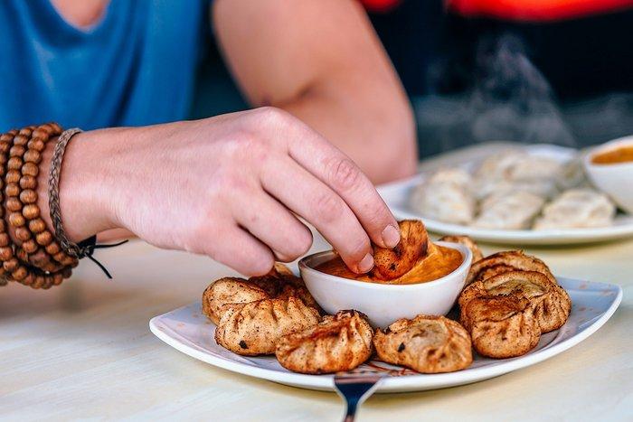Momos (Dumplings or dimsums) - miss my favorite food back home in Delhi