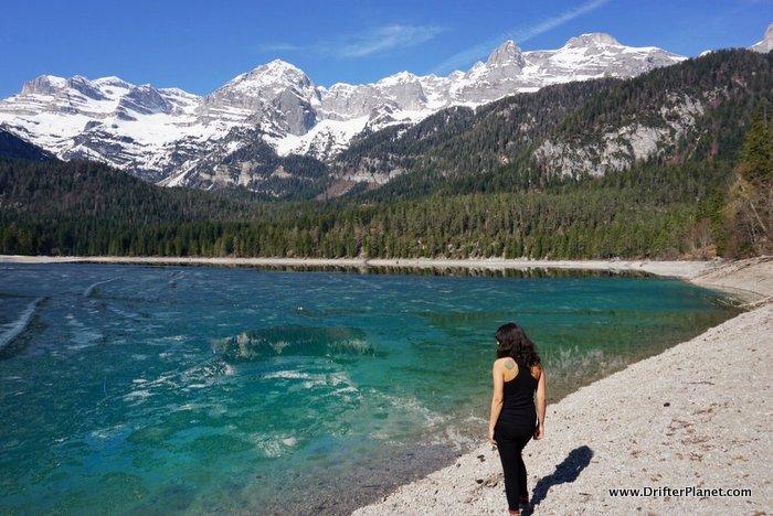 The stunning Tovel Lake - Lago di Toval in Trentino, Italy