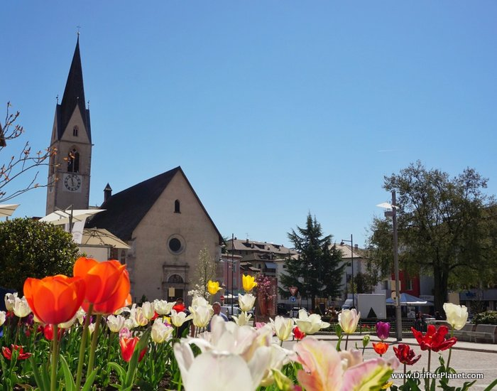 Cles in Spring - Val di Non's biggest town - Trentino, Italy