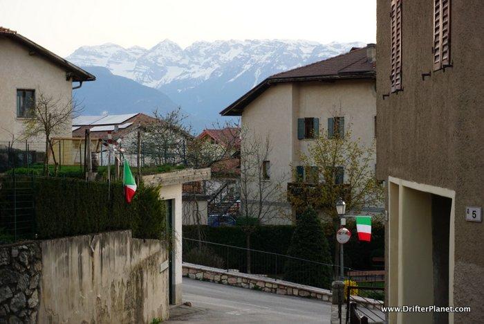 Beautiful village Tavon in Val di Non, Coredo, Italy