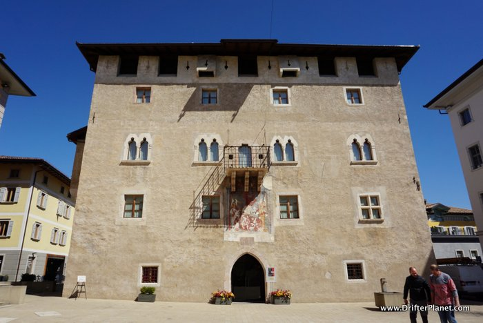 Old Rathaus Building in Cles, Val di Non, Italy