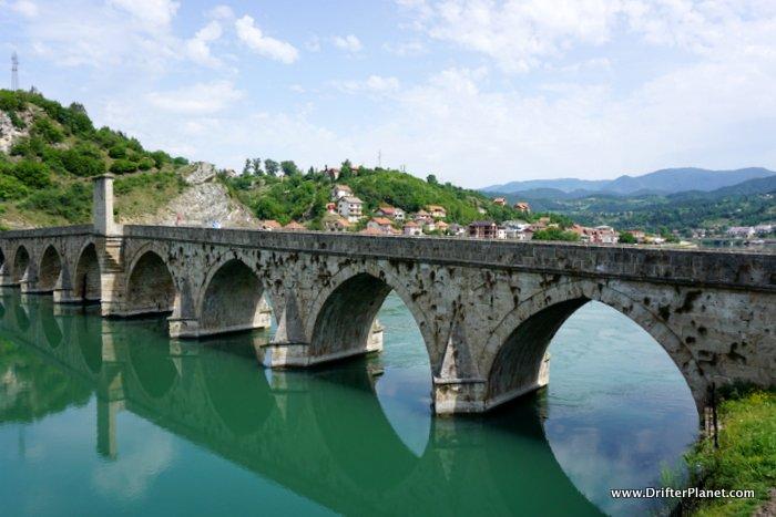 the Bridge over the Drina in Visegrad, Bosnia & Herzegovina - travel the Balkans