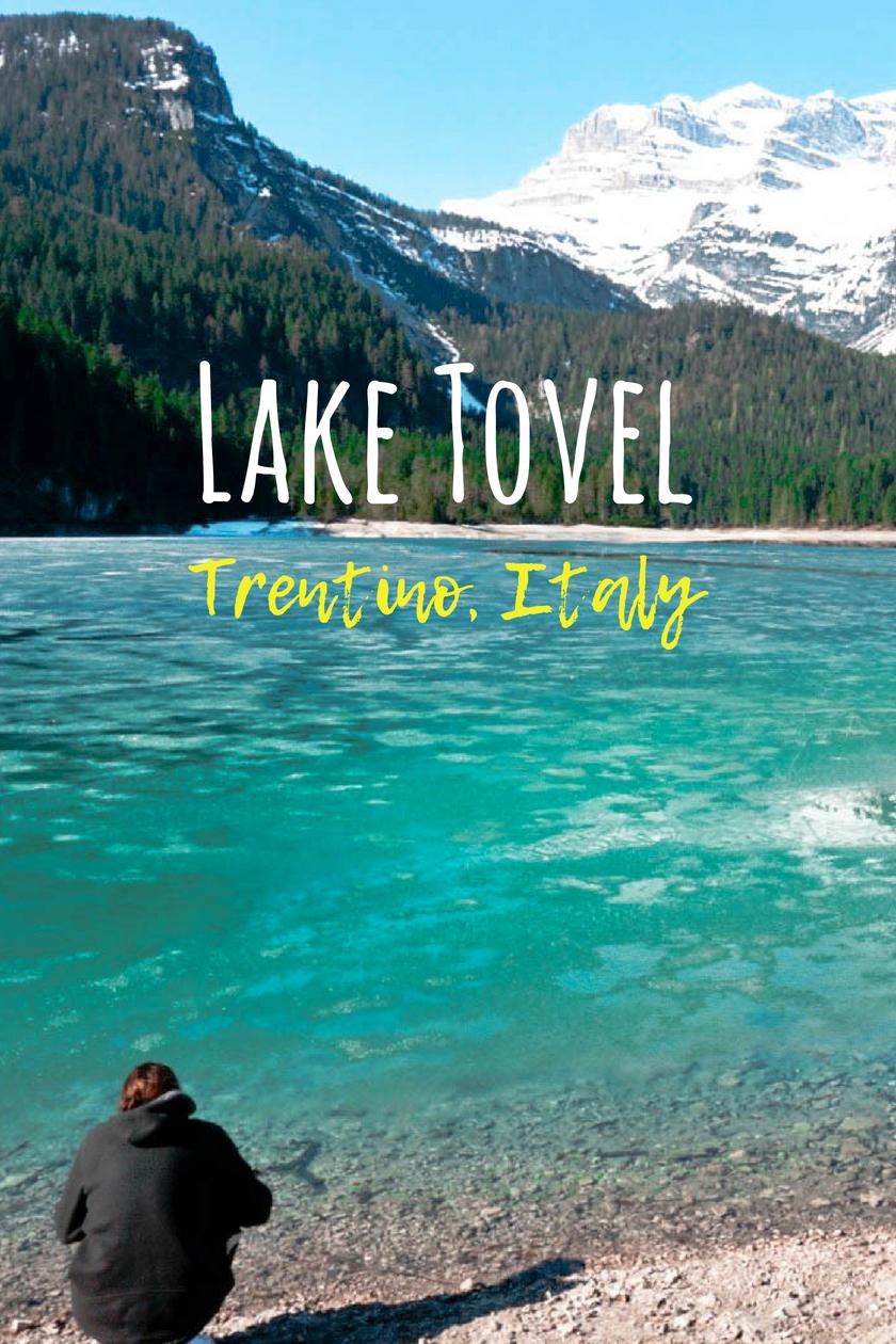 Lago di Tovel, Beautiful Lake in Trentino, Italy