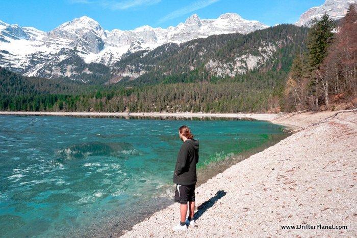 Lake Tovel in spring, Trentino, Italy