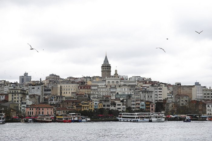 View from the Bosphorous Cruise with Galata Tower, Istanbul