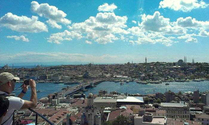 View from top of Galata Tower, Istanbul, Turkey