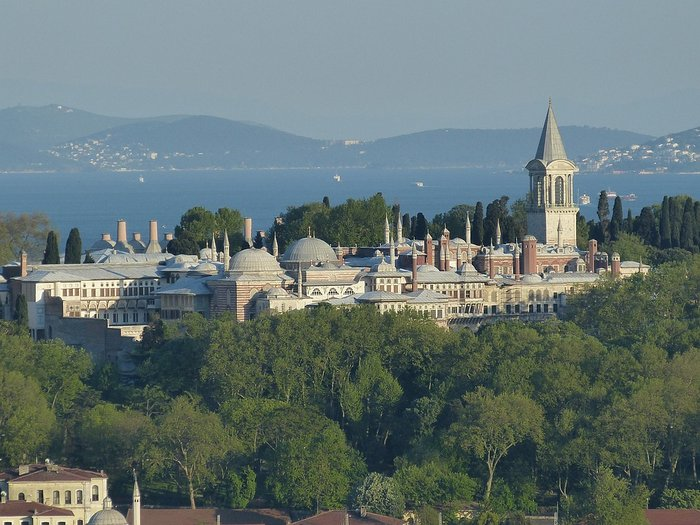 View of Topkapi Palace from Galata Tower, Istanbul, Turkey