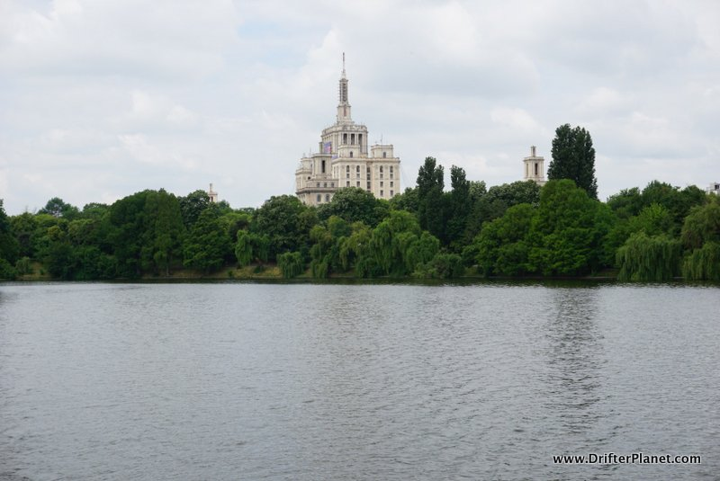 Boating on Herastrau Lake in Bucharest, Romania