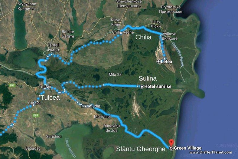 Danube Delta Map, Romania - Where to Go