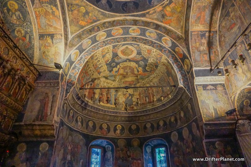 Inside the Stavropoleos Church Monastry in Bucharest