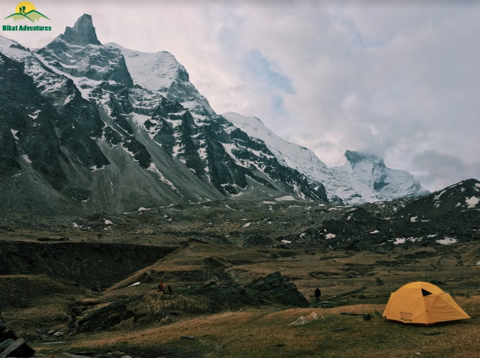 Kedar Kharak Campsite on the way to Kedartal Lake
