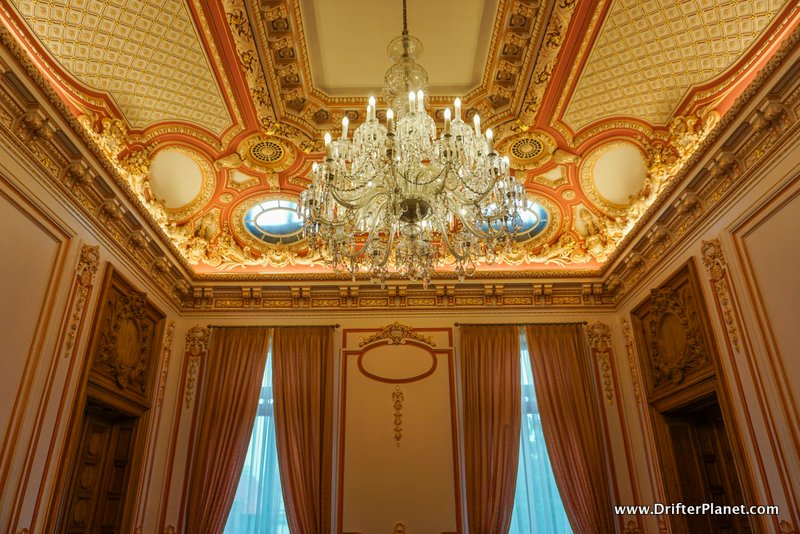 Orange Room inside the Palace of the Patriarchate, Bucharest, Romania