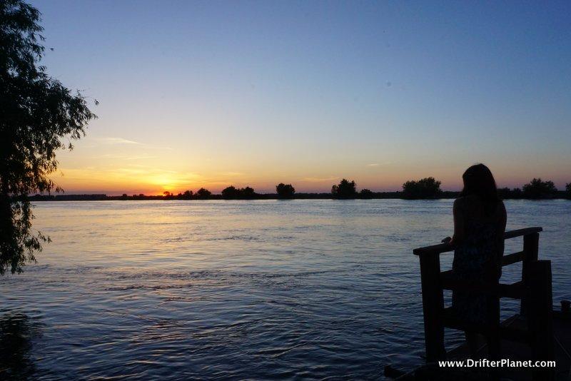 Sunset view from Hotel Sunrise, Delta Dunarii, Danube Delta, Romania