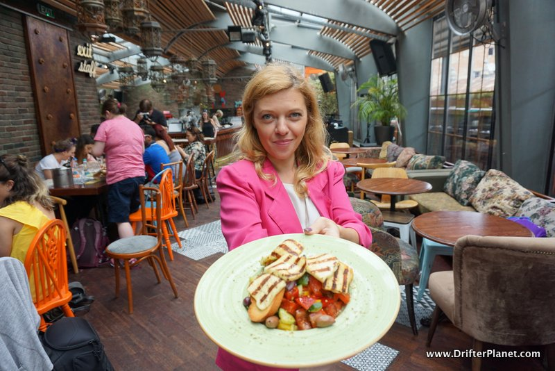 The Food in Nomad Skybar, Bucharest, Romania