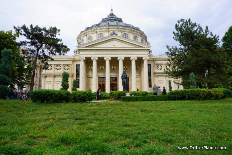 The Romanian Athenaeum building in Bucharest, Romania