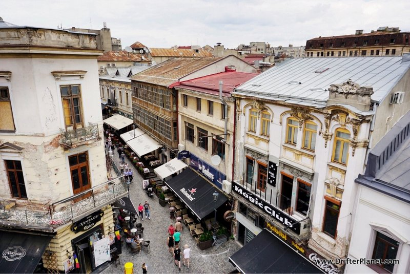View of Bucharest's old town from Nomad's Skybar