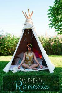 Yoga in Tipi in Danube Delta, Romania