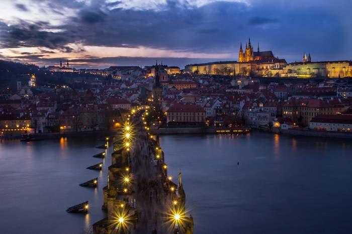 Beautiful Prague at Night - Charles Bridge