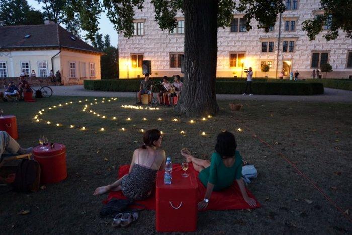 Concert in the Park in Litomyšl, Czech Republic