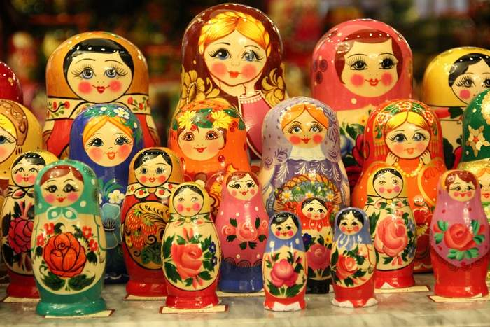 Matryoshkas - these are Russian Dolls but sold in Prague's souvenir shops