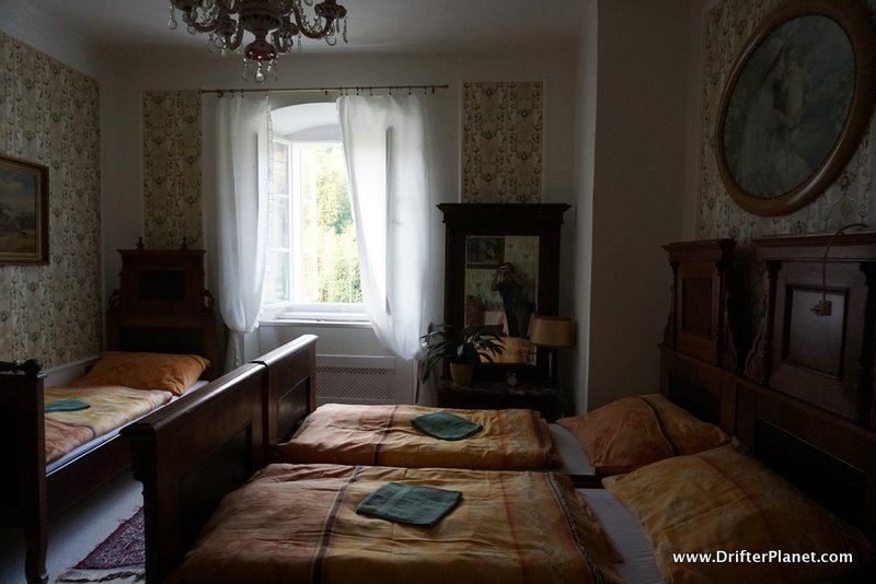 Our Room inside Svojanov Castle, East Bohemia