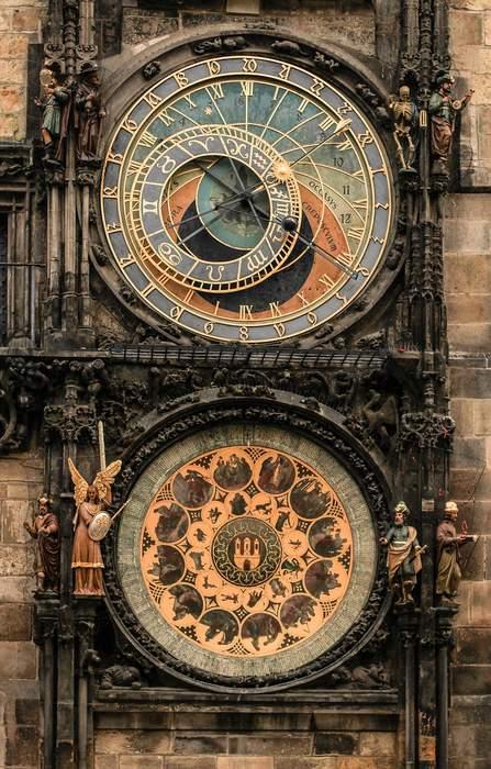 Prague astronomical clock in the Old Town - Prague Neighborhoods