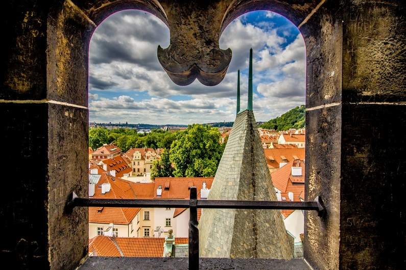 Prague - view from a window - Where to stay in Prague for every budget