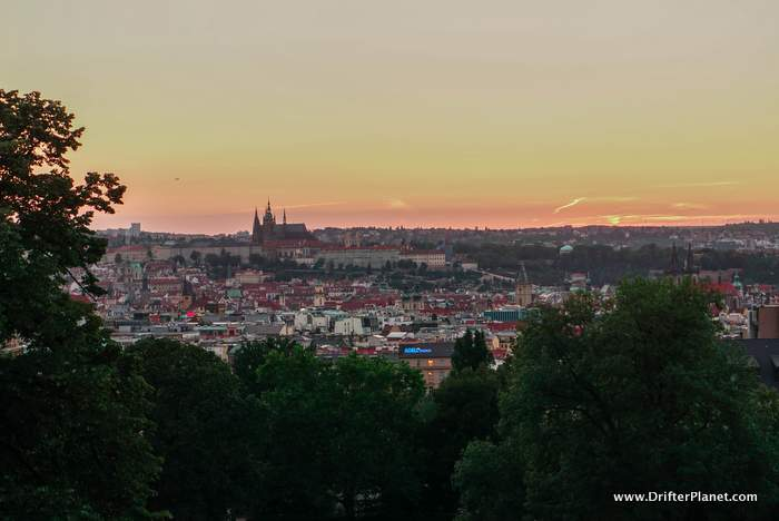 View from Riegrovy Sady Sunset Spot in Prague - travel tips for Prague