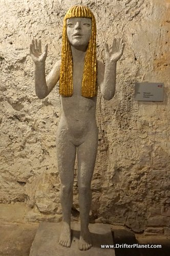Sculpture made by Olbram Zoubek in a wine cellar in Litomyšl