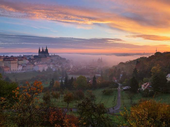 Sunrise in Prague - it looks even better in Spring and Autumn