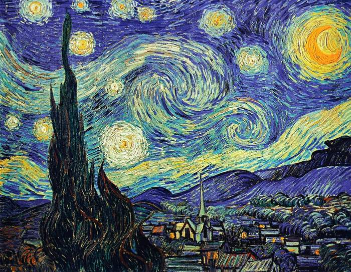 The Starry Night by Vincent Van Gogh - his most famous painting is not a part of Van Gogh Museum in Amsterdam
