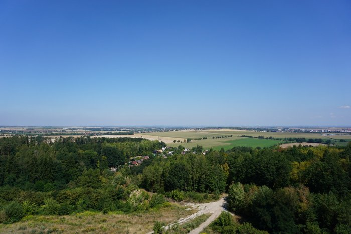 View from Bara Tower in Podhura Forest Reserve, Czech Republic