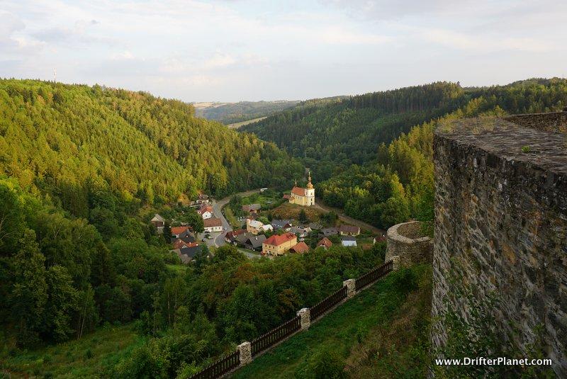 View from Svojanov Castle, East Bohemia, Czech Republic