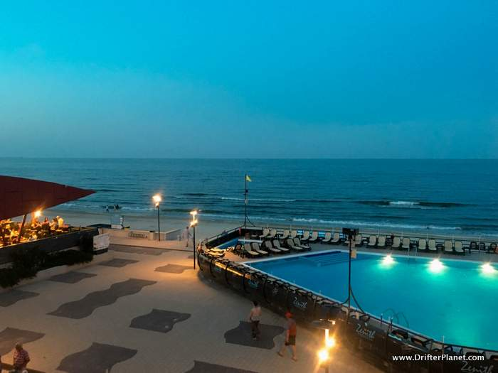 View from my window in Zenith Hotel and Spa in Mamaia, Constanta, Romania
