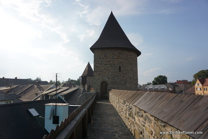 Walking on the Walls of Policka from one tower to another, East Bohemia