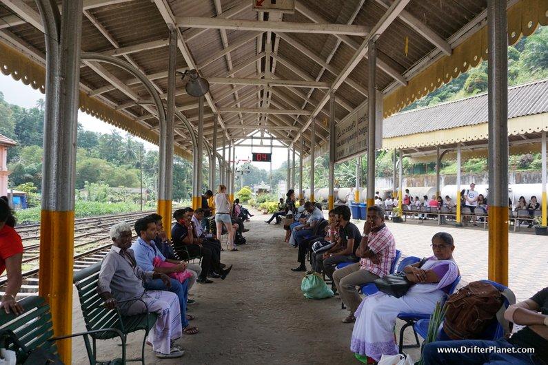 Peradeniya train station in Sri Lanka - super airy