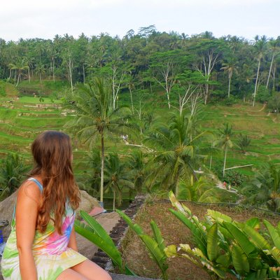 Claire Martin in Tegalagang Rice Fields, Bali