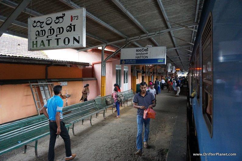 Hatton Train station in Sri Lanka on Kandy to Ella train route
