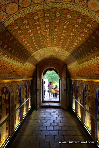 Inside Temple of the Sacred Tooth Relic, Kandy, Sri Lanka