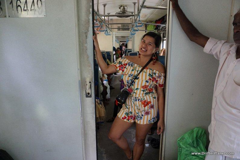 Inside the train in Sri Lanka