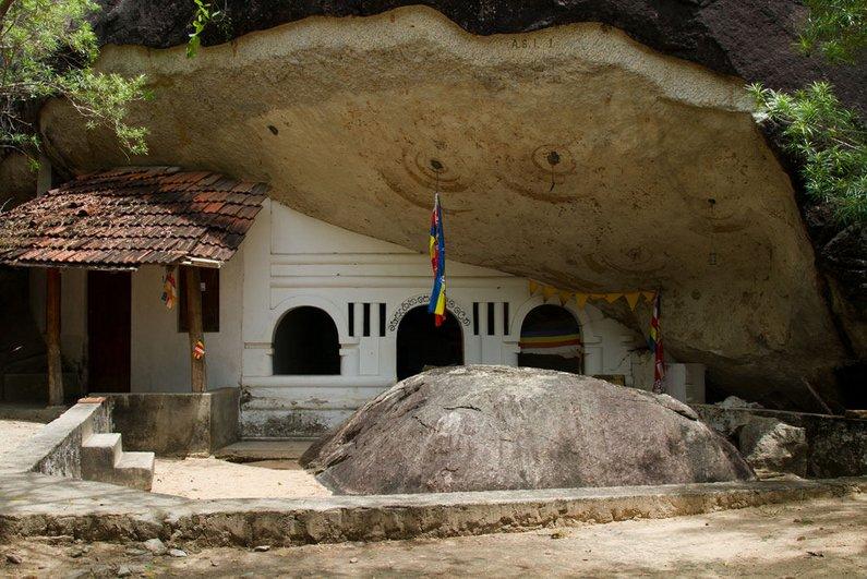 Kudumbigala cave temple near Kimana National Park and near Arugam Bay Sri Lanka by Amila Tennakoon