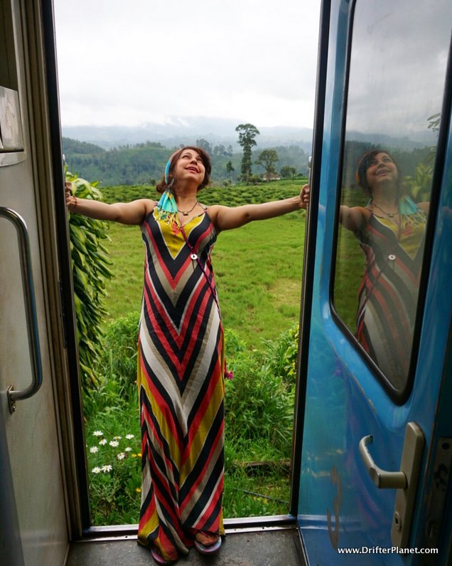 Loving the beauty around me - train ride in Sri Lanka