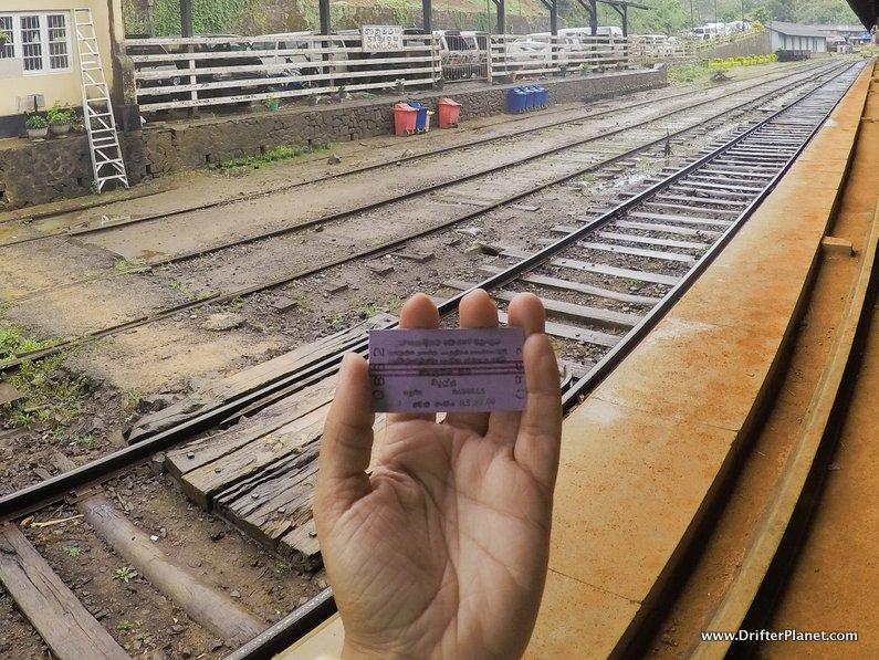 My third class train ticket in Sri Lanka