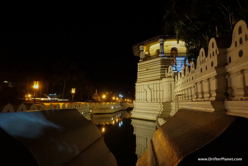 Night time at Temple of the Sacred Tooth Relic, Kandy, Sri Lanka