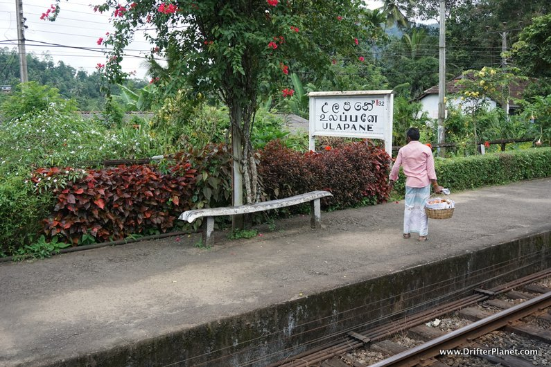 Ulapane - one of the smaller stations on Kandy to Ella train route in Sri Lanka