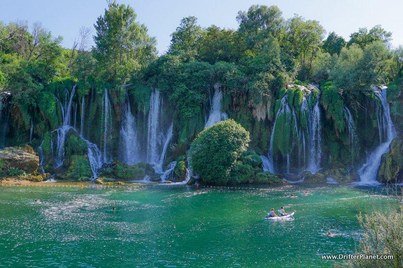 Kayaking in Kravice Waterfalls Bosnia