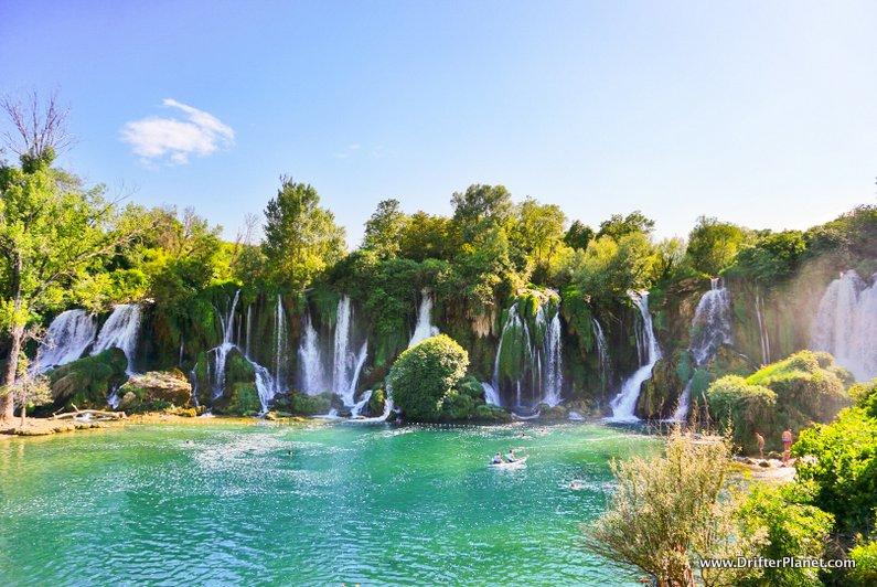 The 25 Meters High Kravice Waterfalls in Bosnia and Herzegovina