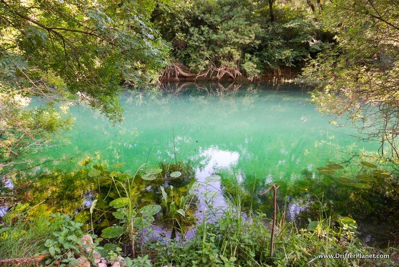 Trebizat River near Kravice Waterfalls Bosnia
