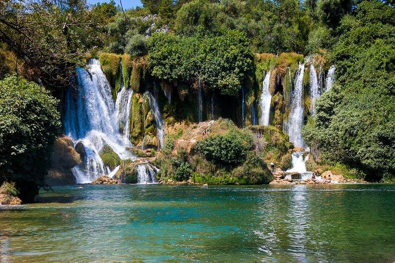 Waterfall Kravice Bosnia and Herzegovina